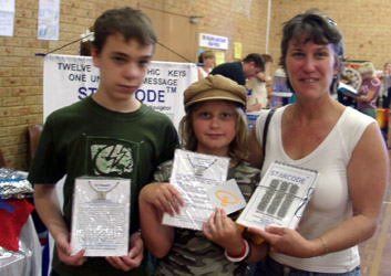 Kathy, Joshua, Danielle from Kinross WA with their Starcode Set and Keys