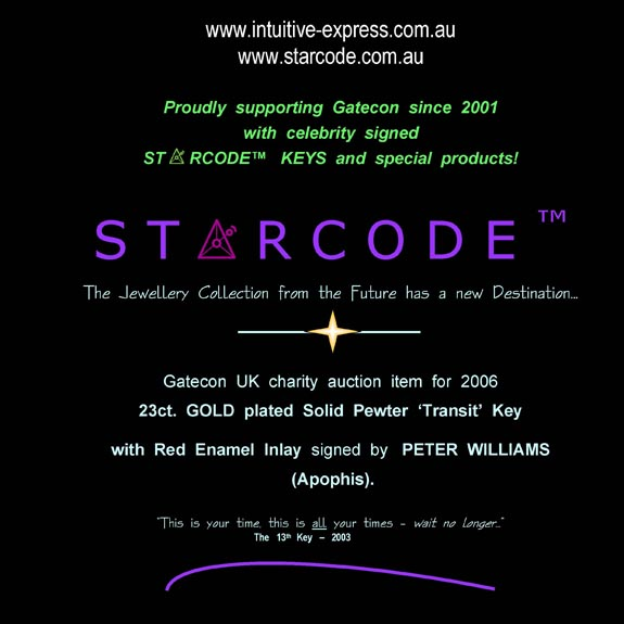 Starcode - Gatecon - Peter Williams charity auction - Stargate